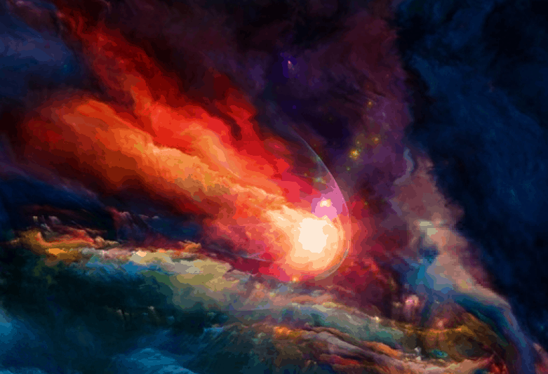 Universe of colors fire
